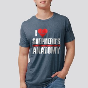 I Heart Shepherd's Anatomy Mens Tri-blend T-Shirt