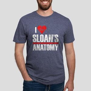 I Heart Sloan's Anatomy Mens Tri-blend T-Shirt