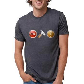 Stop - Hammer - Time Mens Tri-blend T-Shirt