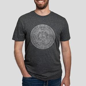 Aztec Sun Stone Calendar Mens Tri-blend T-Shirt