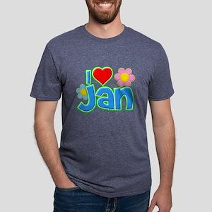 I Heart Jan Mens Tri-blend T-Shirt