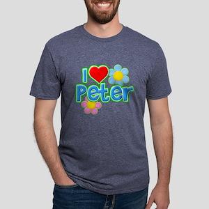 I Heart Peter Mens Tri-blend T-Shirt