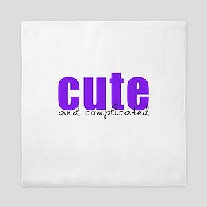 Purple Cute Complicated Queen Duvet