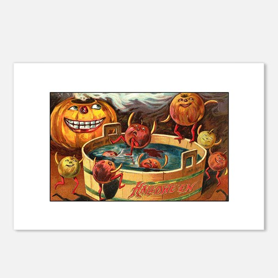 Halloween Apples Postcards (Package of 8)