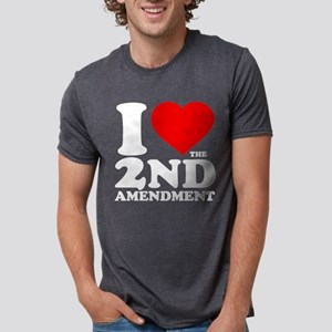 I Heart the 2nd Amendment Mens Tri-blend T-Shirt