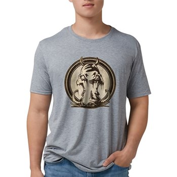 Distressed Wild Boar Stamp Mens Tri-blend T-Shirt
