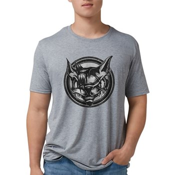 Distressed Wild Cat Stamp Mens Tri-blend T-Shirt