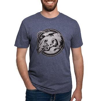 Distressed Wild Rat Stamp Mens Tri-blend T-Shirt
