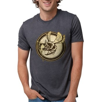 Distressed Wild Wasp Stamp Mens Tri-blend T-Shirt