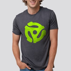 Lime Green Distressed 45 RPM Mens Tri-blend T-Shir