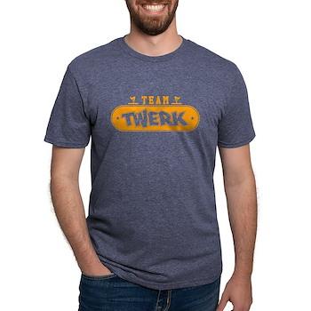Neon Orange Team Twerk Mens Tri-blend T-Shirt