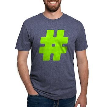 Neon Green #Hashtag Mens Tri-blend T-Shirt
