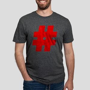 Red #Hashtag Mens Tri-blend T-Shirt