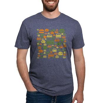 Burgers Mens Tri-blend T-Shirt