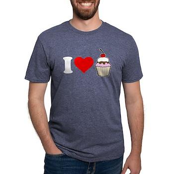 I Heart Cupcake Mens Tri-blend T-Shirt