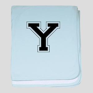 Collegiate Monogram Y baby blanket