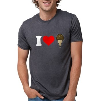 I Heart Ice Cream Cone Mens Tri-blend T-Shirt