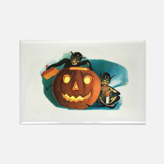 Halloween Goblins Rectangle Magnet