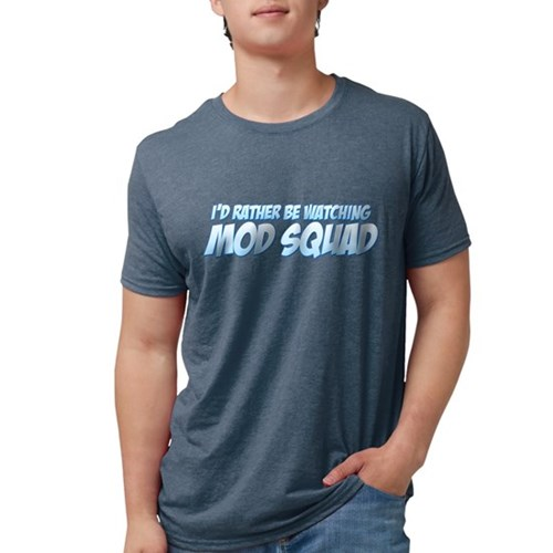 I'd Rather Be Watching Mod Sq Mens Tri-blend T-Shi