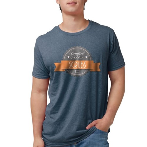 Certified Addict: Scrubs Mens Tri-blend T-Shirt