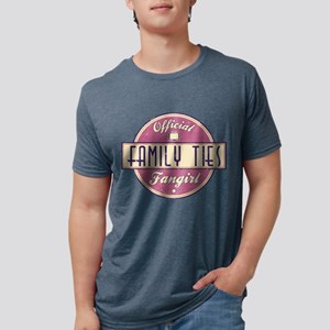 Official Family Ties Fangirl Mens Tri-blend T-Shir