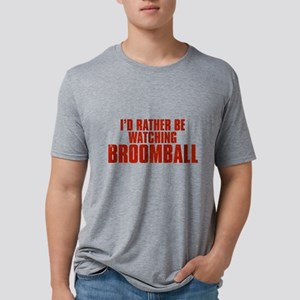 I'd Rather Be Watching Broomb Mens Tri-blend T-Shi