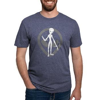 Distressed Alien Mens Tri-blend T-Shirt