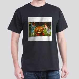 Victorian Halloween Children Dark T-Shirt