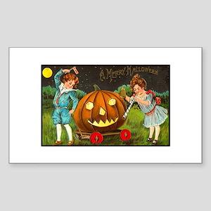 Victorian Halloween Children Rectangle Sticker