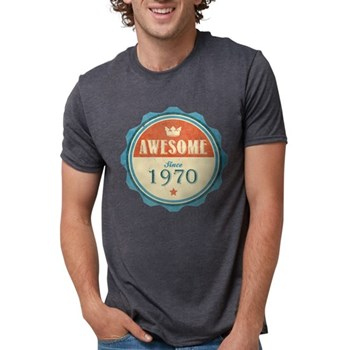 Awesome Since 1970 Mens Tri-blend T-Shirt