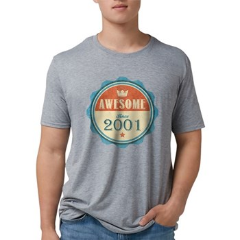 Awesome Since 2001 Mens Tri-blend T-Shirt