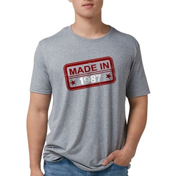 Stamped Made In 1987 Mens Tri-blend T-Shirt