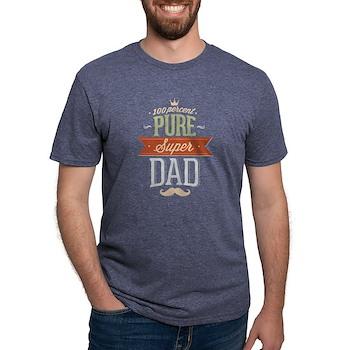 100 Percent Pure Super Dad Mens Tri-blend T-Shirt