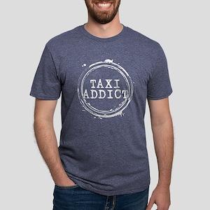Taxi Addict Mens Tri-blend T-Shirt