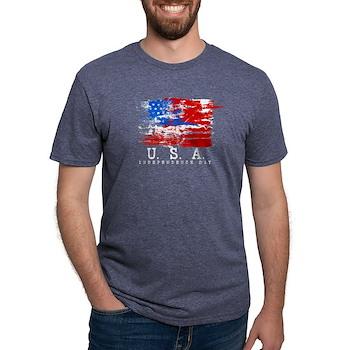 Grunge USA Flag Mens Tri-blend T-Shirt