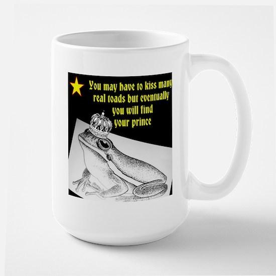 Kiss many toads Large Mug