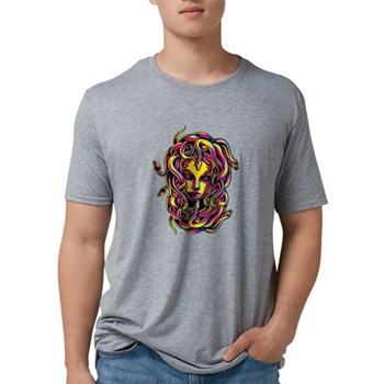CMYK Medusa Mens Tri-blend T-Shirt