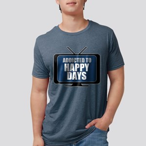 Addicted to Happy Days Mens Tri-blend T-Shirt