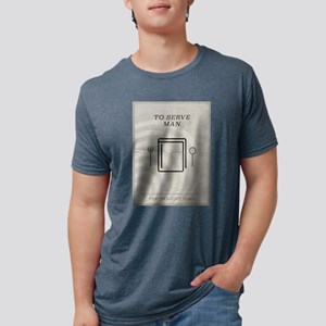To Serve Man Minimal Poster Mens Tri-blend T-Shirt