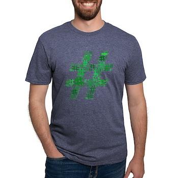 Green Hashtag Cloud Mens Tri-blend T-Shirt