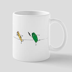 Angry Pickle and French Fry Mug