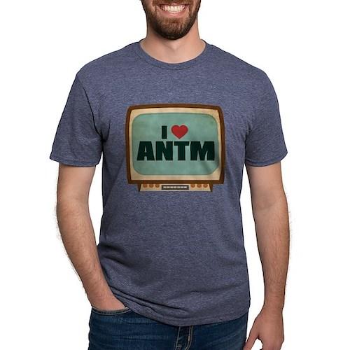 Retro I Heart ANTM Mens Tri-blend T-Shirt