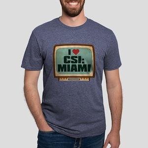 Retro I Heart CSI: Miami Mens Tri-blend T-Shirt