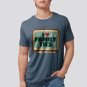 Retro I Heart Family Ties Mens Tri-blend T-Shirt
