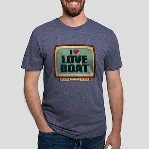 Retro I Heart Love Boat Mens Tri-blend T-Shirt
