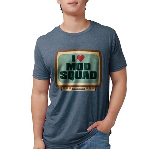 Retro I Heart Mod Squad Mens Tri-blend T-Shirt