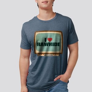 Retro I Heart Rawhide Mens Tri-blend T-Shirt