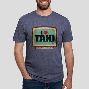 Retro I Heart Taxi Mens Tri-blend T-Shirt