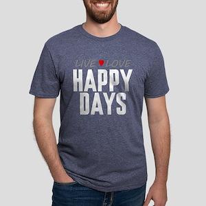 Live Love Happy Days Mens Tri-blend T-Shirt