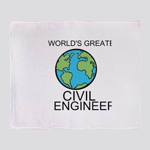 Worlds Greatest Civil Engineer Throw Blanket